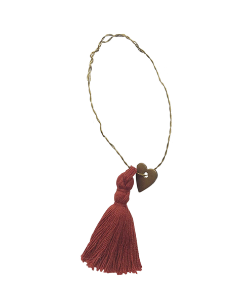 available early October 2020 5 WIRE ORNAMENTS RUSTY RED TASSEL
