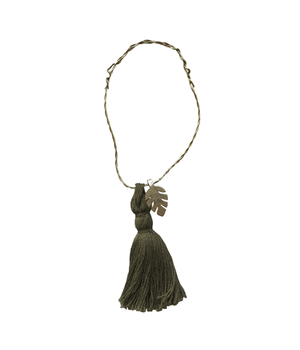 5 WIRE ORNAMENTS OLIVE TASSEL