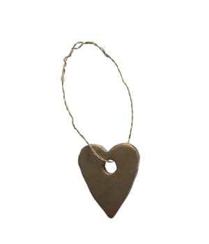 5 METAL HEART ORNAMENTS