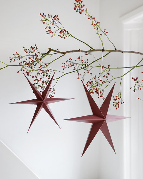 RUSTY RED PAPER STARS out of stock