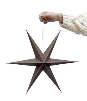BROWN SPARLE PAPER STARS