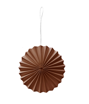 10 BROWN PAPER ORNAMENTS