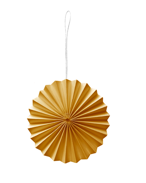 10 YELLOW PAPER ORNAMENTS