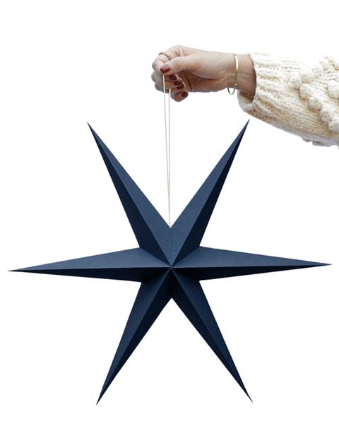 5X2 MIDNIGHT BLUE PAPER STARS