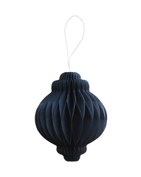 5 MIDNIGHT BLUE PAPER ORNAMENTS WITH MAGNET CLOSURE