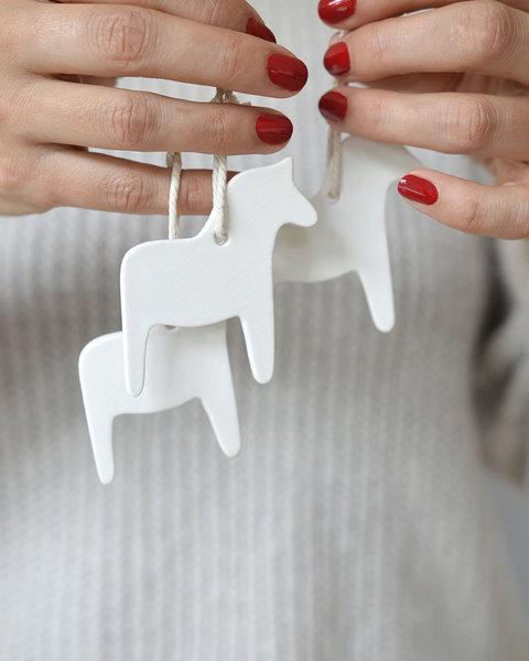 10 DALA HORSE CLAY ORNAMENTS
