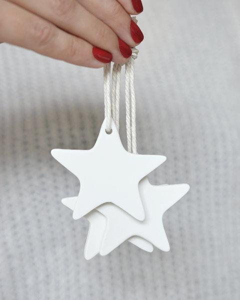 10 STAR CLAY ORNAMENTS