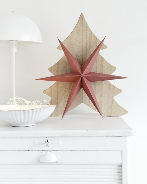 5 ROSE TAN PAPER ORNAMENTS WITH MAGNET CLOSURE