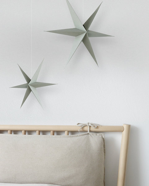 5 OLIVE GREEN PAPER ORNAMENTS WITH MAGNET CLOSURE