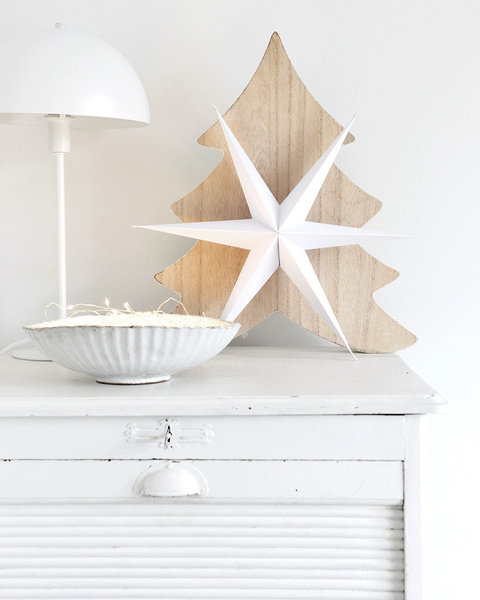 5 FROSTY WHITE PAPER ORNAMENTS