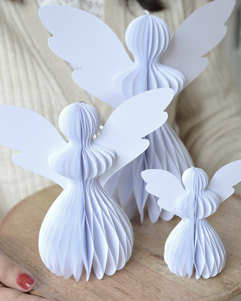5 FROSTY WHITE PAPER ANGELS L