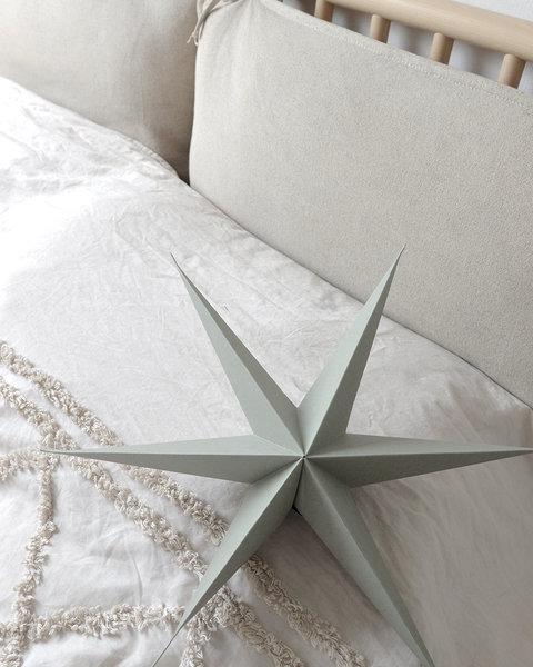 5X2 OLIVE GREEN PAPER STARS