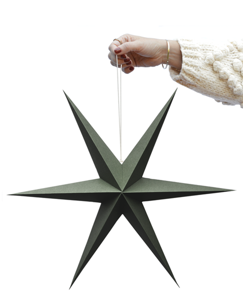 PINE GREEN PAPER STARS