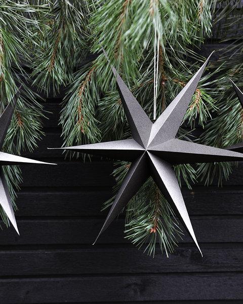 5x2 GRAY PAPER STARS