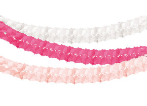PINK HONEYCOMB TISSUE GARLAND