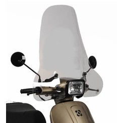 Windshield high SMOKE Vespa-look s / VX50S /RIVA 1 Sport / Vespelini S / Turbho type D