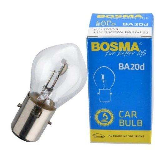 Lamp / bolletje Bosma  12V 35/ 35W  Type: ba20d