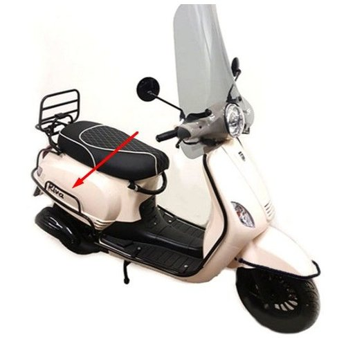 Sierbeugel achter MAT ZWART RSO Sense/Napoli/Riva/VX50/Maple-2/vespa-look