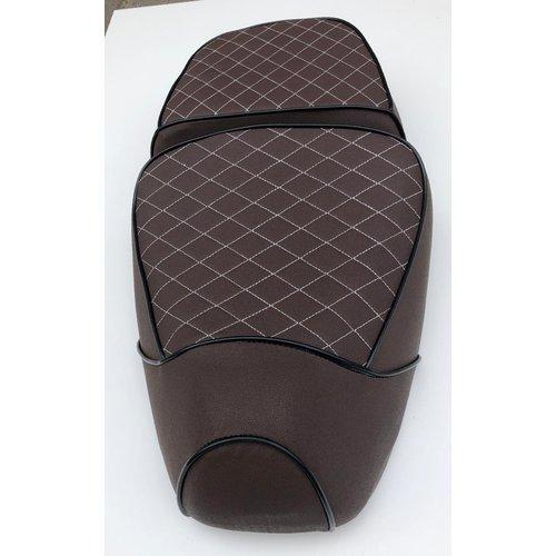 Buddyseat/ zadel bruin geruit RSO Sense/vx50/Riva/vespelini/Vespa-look