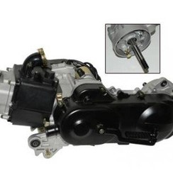 Motorblok GY6 50cc 10 inch Lange achteras