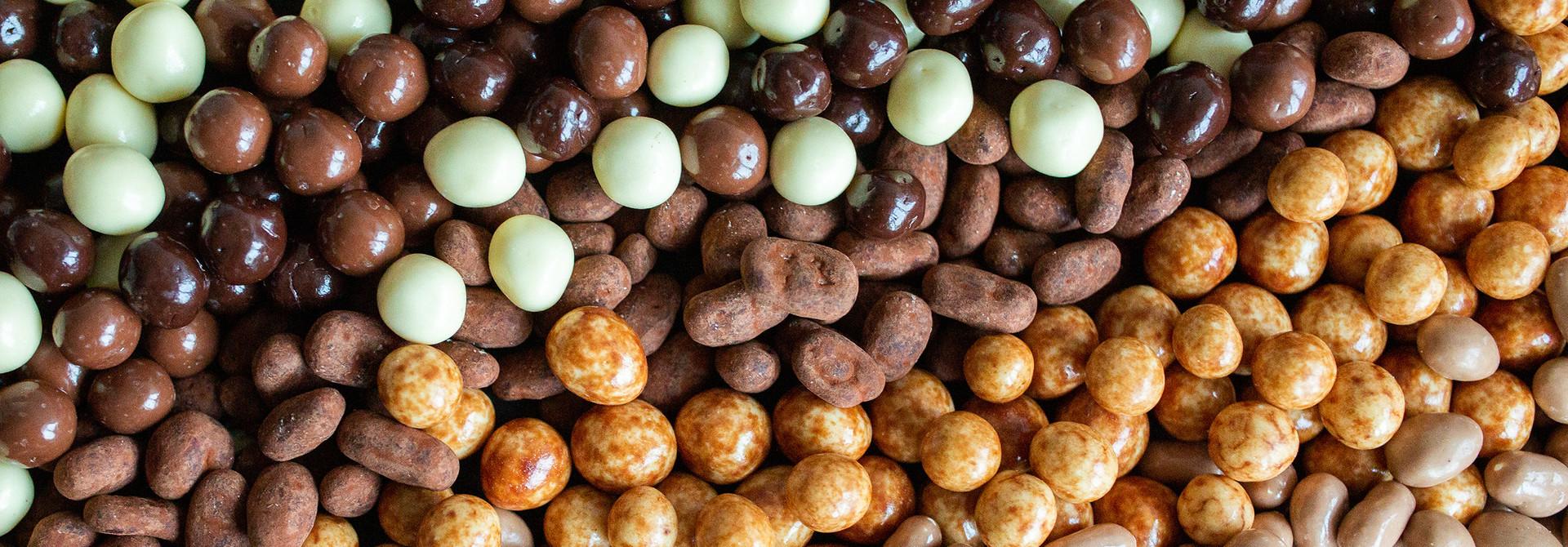 Gechocolateerde noten