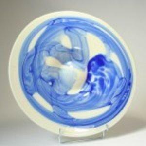 Schaal blauw wit