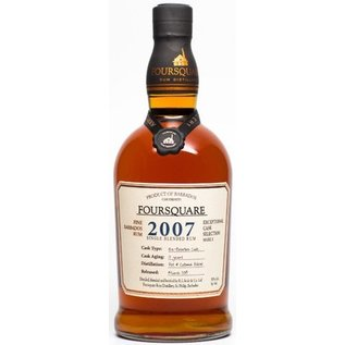 Foursquare Foursquare 2007-12 years Old Single Blended Rum (59%)