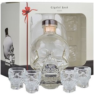 Crystal Head Crystal Head giftset with 4 shot glasses