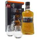 Highland Park 12yo with 2 glasses