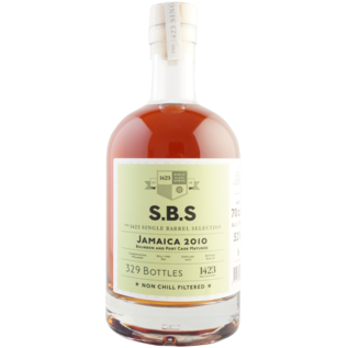 1423 S.B.S 1423 S.B.S Jamaica 2010 Bourbon and Port Cask (52% ABV)
