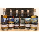 First Cask by WIN Set of 6 Single Malts with van Gogh distillery labels by First cask by WIN