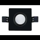 Interlight Frame MR16 90mm vierkant IP65 mat/zwart