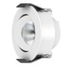 Interlight LED Camicro Downlight rond kantelbaar CTA dimbaar 4W 45° wit 2.000K-2.700K IP44