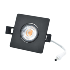 Interlight LED Camini Downlight vierkant kantelbaar CTA dimbaar 8W 36°  zwart 2.000K