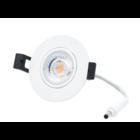 Interlight LED Camini Downlight rond kantelbaar CTA dimbaar 8W 36° wit 2.000K-2.7