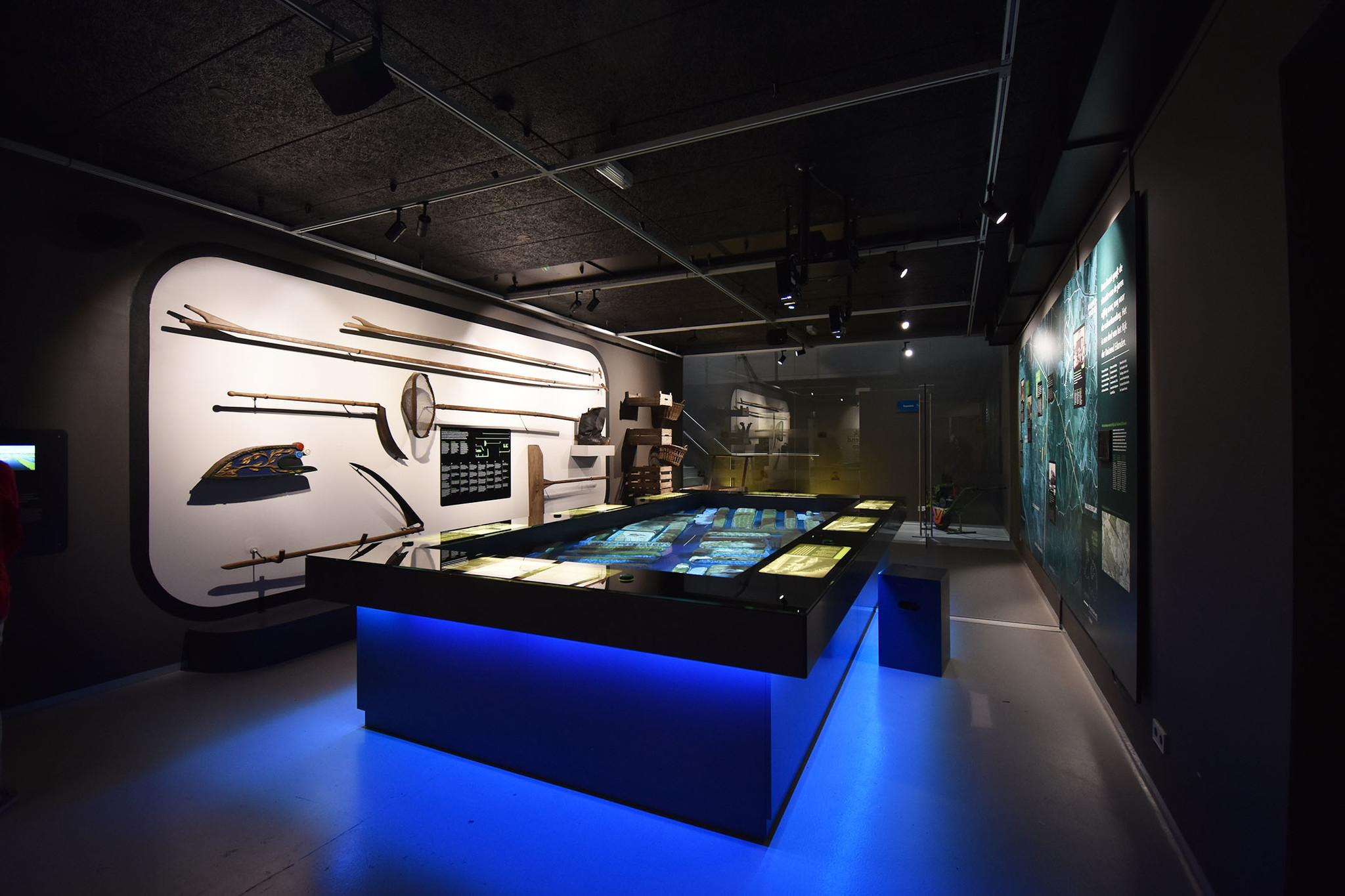 De verlichting in een museum