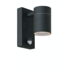 Lucide ARNE-LED - Wandspot Buiten - Ø 6,3 cm - LED - GU10 - 1x5W 2700K - IP44 - Bewegingssensor