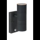 Lucide ARNE-LED - Wandspot Buiten - Ø 6,3 cm - LED - GU10 - 2x5W 2700K - IP44 - Bewegingssensor