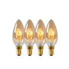 Lucide LED BULB - Filament lamp - Ø 3,5 cm - LED Dimb. - E14 - 4x3W 2200K - Set van 4