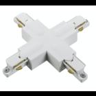 Nordic Aluminium X-koppelstuk 1-fase rails GB 38