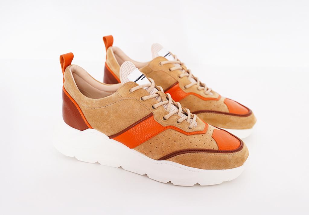 Runner Lowtop  Beige Orange