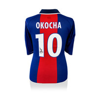Jay-Jay Okocha gesigneerd Paris Saint Germain shirt 2000-01