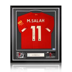 Mohamed Salah gesigneerd Liverpool shirt 2019-20 - ingelijst