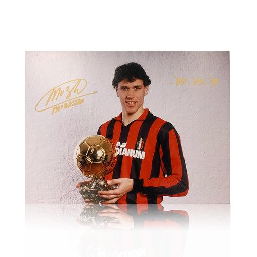 Marco van Basten gesigneerd AC Milan foto - Ballon d'Or