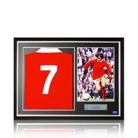 George Best gesigneerd Manchester United foto - ingelijst