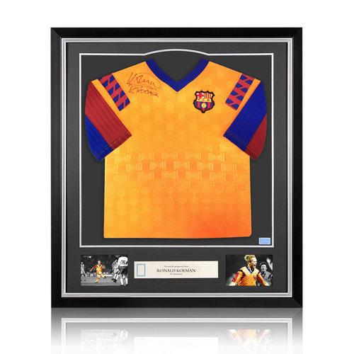 Ronald Koeman gesigneerd FC Barcelona shirt - ingelijst