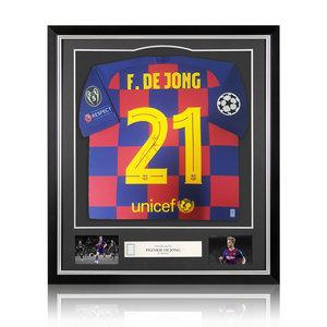 Frenkie de Jong gesigneerd FC Barcelona shirt 2019-20 - ingelijst