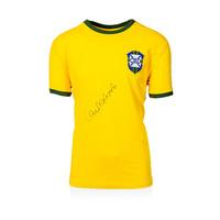 Carlos Alberto gesigneerd Brazilië shirt retro