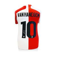 Willem van Hanegem gesigneerd Feyenoord shirt