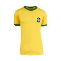 Pelé gesigneerd Brazilië WK 1970 shirt